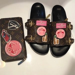 Louis Vuitton Limited Edition Miami Wallet & Mules